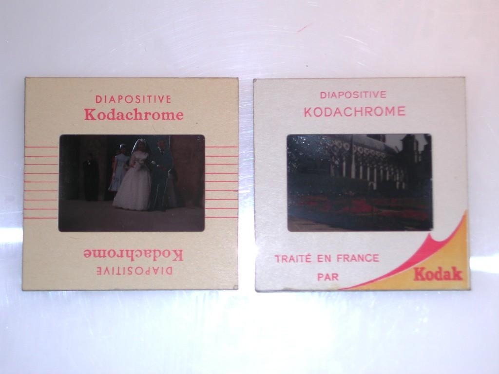 Deux modèles de diapositives Kodachrome