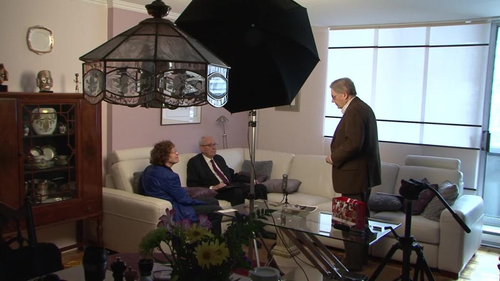 Pause pendant l'entrevue de Guy Richard - Entre Andréa Richard et Michel Virard